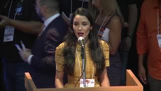 Samanta Costa fala na Convenção Nacional do Solidariedade