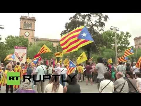 Spain: Anti-monarchy Catalans protest new king