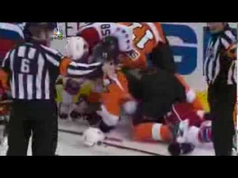 Mass scrap between Capitals and Flyers