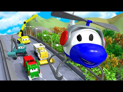 Smetiarske auto v meste áut