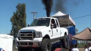 6.0 Ford Powerstroke 443 RWHP Dyno On 40s FUEL ONLY NO