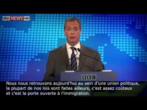 Nigel Farage vs Nick Clegg : débat sur l'Europe