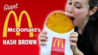 DIY GIANT McDONALDS HASH BROWN 🍟 - VERSUS
