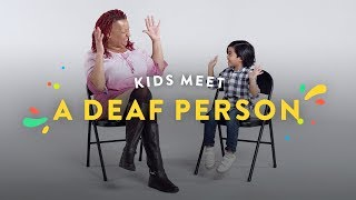 Kids Meet A Deaf Person