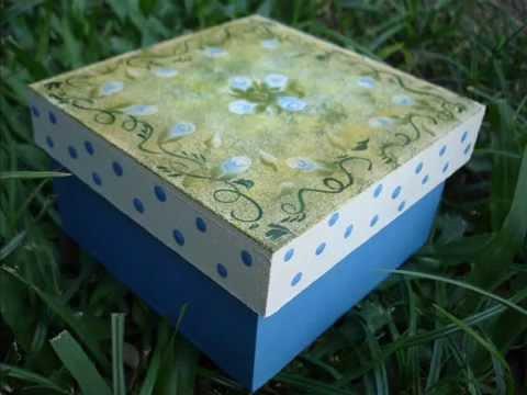 Cajas pintadas a mano youtube - Cajas de madera pintadas a mano ...