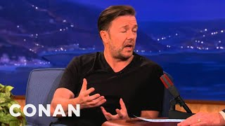 Ricky Gervais Explains the Mind of Karl Pilkington: Conan on TBS