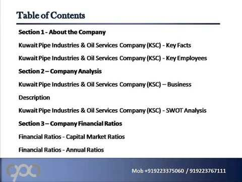 Kuwait Pipe Industries & Oil Services Company