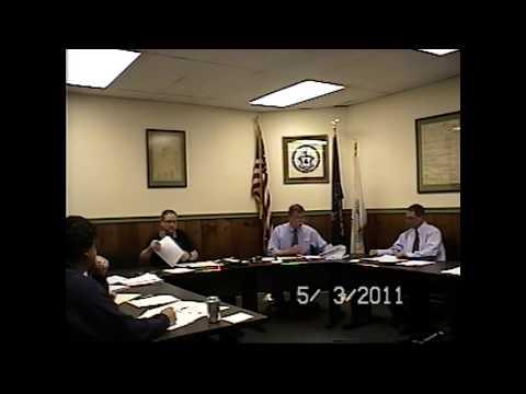 Champlain Village Board Meeting 5-3-11