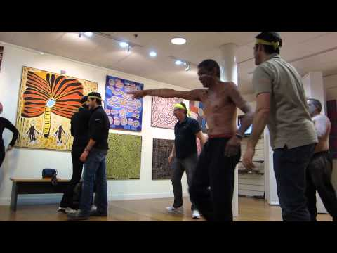 THRILL Amazing Race Checkpoint - Aboriginal Dance - Blue Mountains - Australia