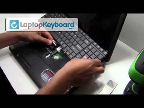 Toshiba Satellite C650 L650 Laptop Keyboard Installation Guide - Remove Install - Replacement
