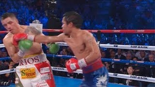Manny Pacquiao's Win Over Brandon Rios: Fight Highlights