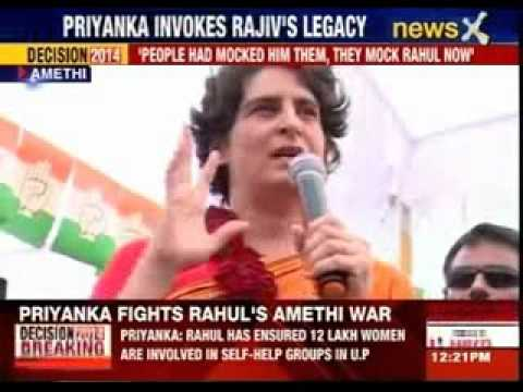 Priyanka Gandhi addresses rally in Amethi