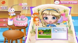 New Disney's Princess Elsa Frozen (Baby Elsa Bed Time