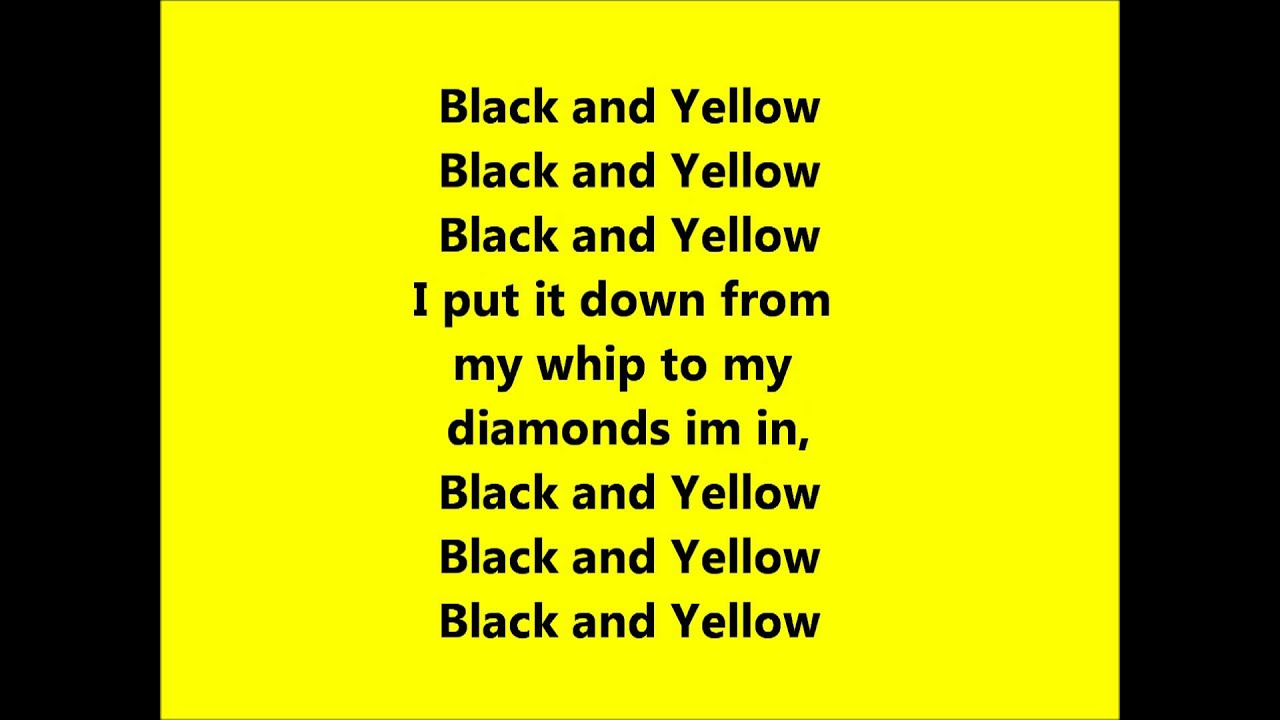 Black and yellow lyrics download for itunes