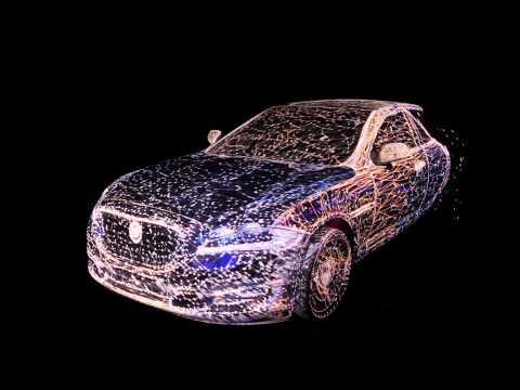 3D Mapping on a transparent Jaguar car