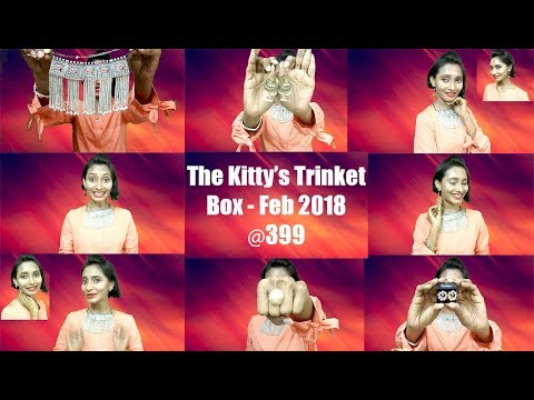 The Kitty's Trinket Box Feb 2018 – Surprise Jewelry Box @399 Only | Unboxing & Review | SahiJeeth