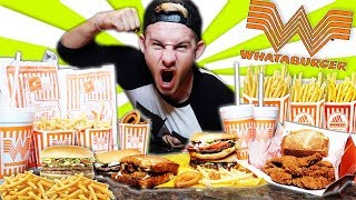 THE SUPERCHARGED WHATABURGER MENU CHALLENGE! (12,000+ CALORIES)