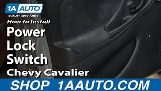 How To Install Replace Power Lock Switch 2000-05 Chevy