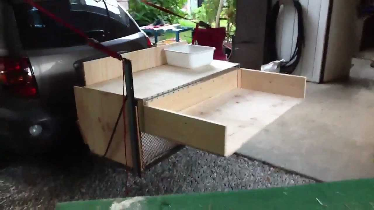 Trailer hitch camp box youtube for Camp trailer kitchen designs