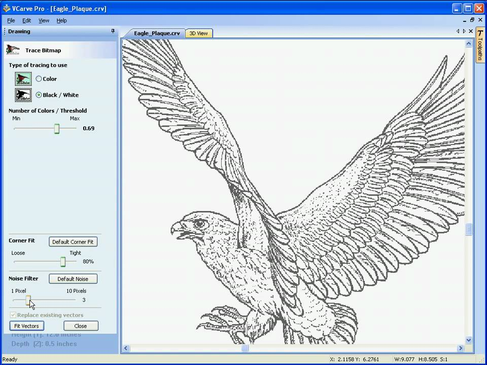 VCarve Pro - Image Tracing / Vectorization - YouTube