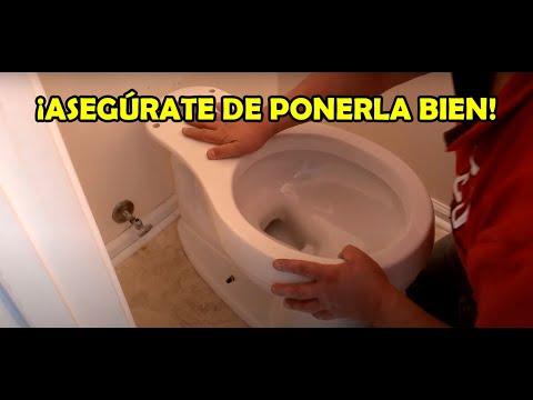 Como instalar una taza de baño - YouTube