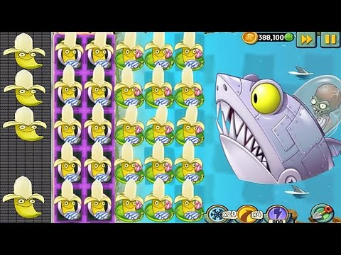 Plants vs Zombies 2 MOD: Banana Launcher Pvz2 Vs All Freakin' Zomboss: Gameplay 2017