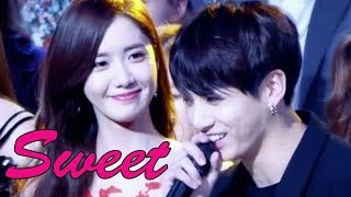 BTS x SNSD Sweet Moment + Dancing + Reaction each Other | KNET