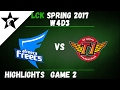 AFS vs SKT Highlights Game 2 LCK Spring W4D3 2017 Afreeca Freecs vs SK Telecom T1
