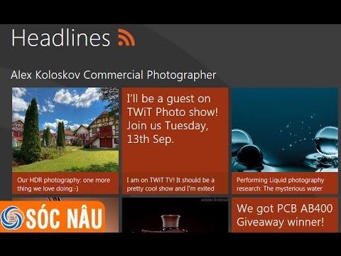 Hướng dẫn tạo RSS để đọc tin tức trên Windows 8