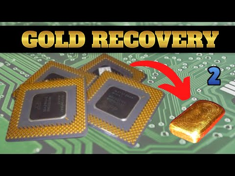 Scrap Ceramic CPU Gold Recovery - Part 2