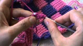 Punto Tunisino Intrecciato (entrelac Crochet) Prima Parte