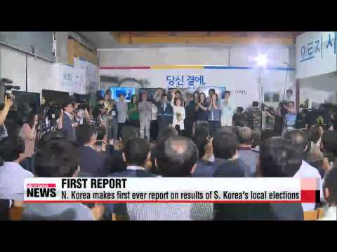 N  Korea makes first ever report on results of S  Korea's local elections