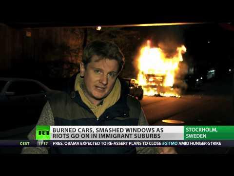 Sweden burning: Stockholm riots & violence enter 4
