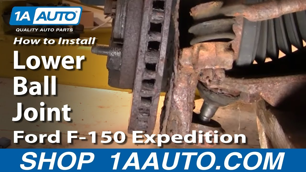 Part 1 How To Install Replace Lower Ball Joint 97 03 Ford