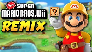 New Super Mario Bros. Wii REMADE in Super Mario Maker