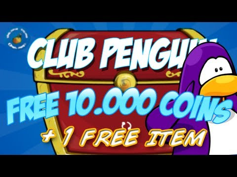 Club Penguin Unlocking Free 10.000 coins code, Hello Guys ! I got a bunch of new codes for you guys! They will give you 10.000 club penguin coins and 1 free item. Here are they: TEABLACK, 14COOKIE, VOLCAN...