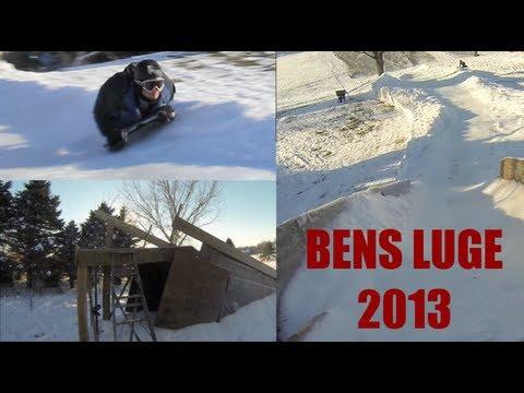 ben 39 s backyard luge 2012 2013 youtube