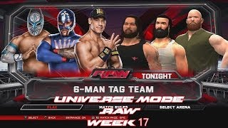 WWE 2K14 Universe Mode RAW Week 17 Cena, Mysterio
