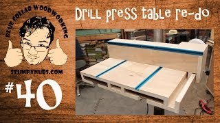 SWEET Homemade Drill Press Table With T-Style Fence And