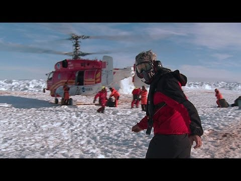 Antarctic rescue mission: helicopter evacuation to the Aurora Australis