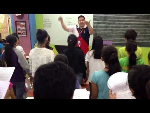 A Better World - Globe Voices@Work rehearsal with Mandaluyong Children's Choir