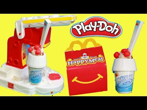 PLAY-DOH  McDonalds McFlurry Ice Cream Dessert HAPPY MEAL SURPRISE Play Dough Fast Food Play Kitchen