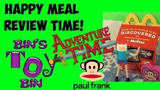 Adventure Time & Paul Frank (2014) Happy Meal Toy Review