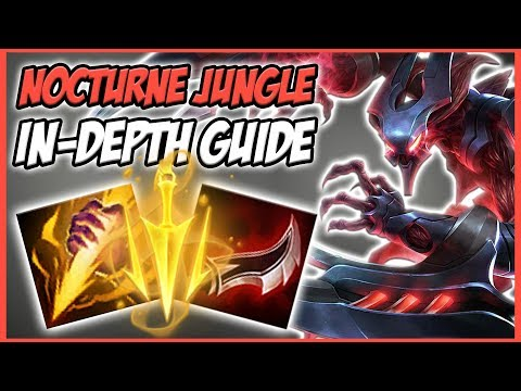 GUIDE ON HOW TO PLAY NOCTURNE JUNGLE IN SEASON 8! GREAT CHAMPION FOR FREELO - League of Legends