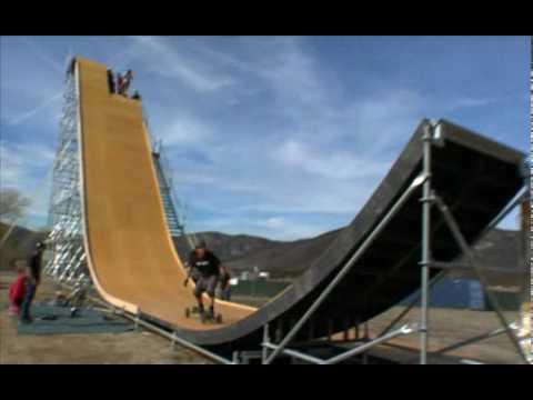 Šílená tréningová rampa. Fakt velký adrenalin!