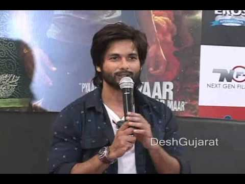 Bollywood star Shahid Kapoor in Ahmedabad Gujarat to promote his forthcoming film R...Rajkumar