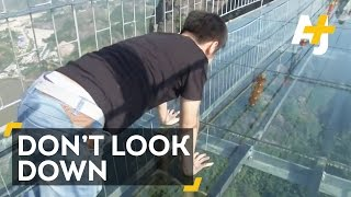 Terrifying Glass Bridge In China's Zhangjiajie National Forest
