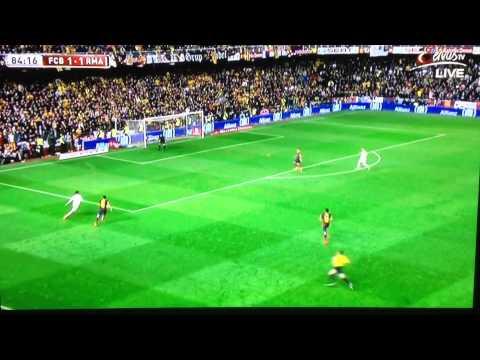 Gareth Bale Winning Goal vs Barcelona Copa Del Rey 16.04.2014 El Clasico