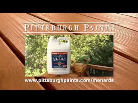 Pittsburgh Paints and Stains® Deck Cleaner - YouTube