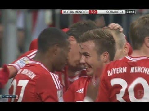 Bayern Munich vs Schalke 5-1 Arjen Robben Hattrick vs Schalke 04 ~ Tore HD 1/MAR/2014